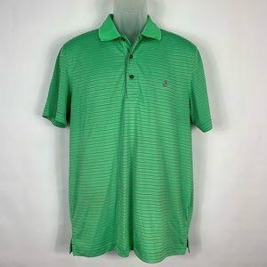 Izod Gold Mens Green Polo Shirt Size Medium